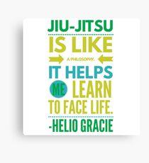 Brazilian Jiu-Jitsu Helio Philosophy Canvas Print