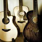 3 guitars by Matt Sillence
