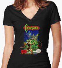 Classic Castlevania NES Women's Fitted V-Neck T-Shirt