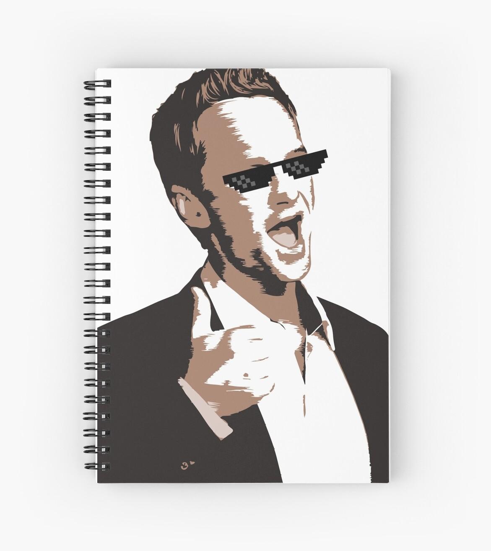 Barney Stinson Spiral Notebooks By Raokou Redbubble