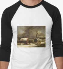 George Henry Durrie - Winter Scene In New Haven, Connecticut T-Shirt