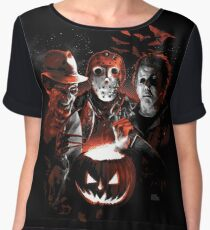 Super Villains Halloween Women's Chiffon Top