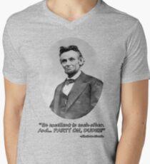 Party On, Abe! Mens V-Neck T-Shirt