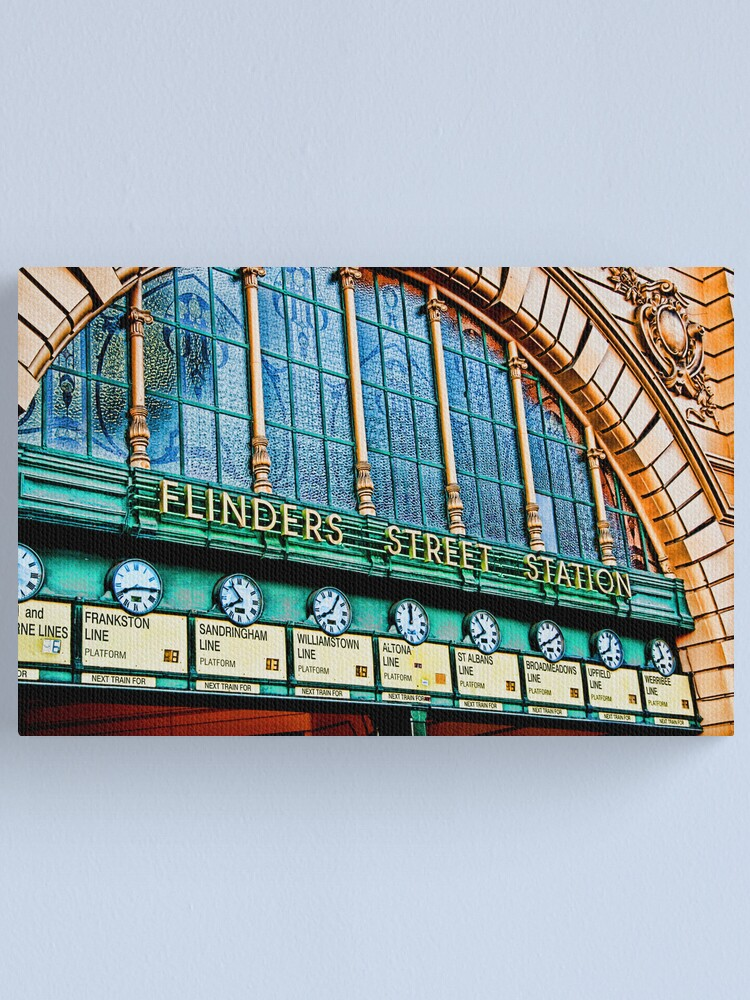 Alternate view of Melbourne Series - The Clocks, Flinders Street Station Canvas Print