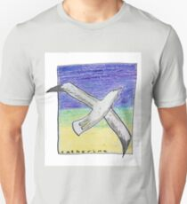 Gliding seagull in the summer sky T-Shirt