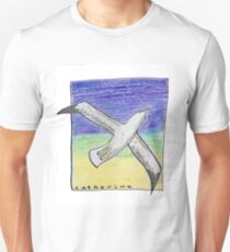 Gliding seagull in the summer sky Unisex T-Shirt