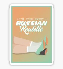 you're my sweet russian roulette - red velvet, russian roulette Sticker