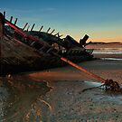 Ship Wreck In Morning Light by Derek Smyth