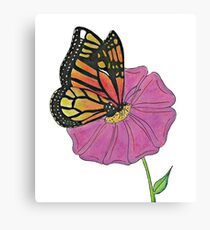 Oil Pastel Butterfly Canvas Print