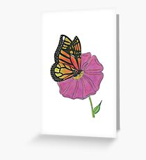 Oil Pastel Butterfly Greeting Card