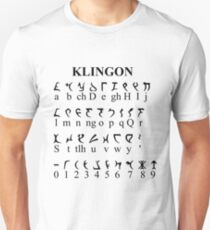 Klingon Alphabet Unisex T-Shirt