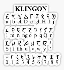Klingon Alphabet Sticker