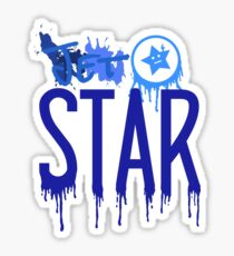 Jet Star paint splatter Sticker