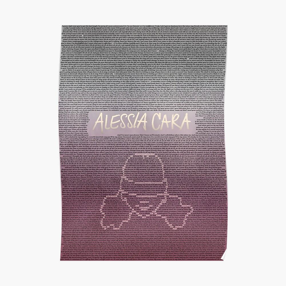 Alessia Cara Lyrics Poster