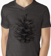 Camiseta para hombre de cuello en v Cono de pino