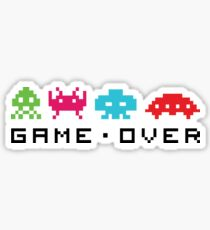 Space invaders - Game over Sticker