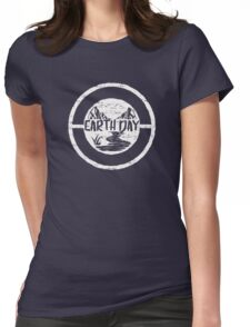 Earth Day - Environmentalism Conservationist Emblem Design Womens Fitted T-Shirt