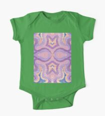 Purple McSwirly Pants Doodle - Layered One Piece - Short Sleeve