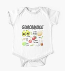 Guacamole Recipe Art Print One Piece - Short Sleeve