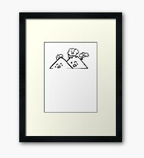 Clouds Vs. Mountains Framed Print