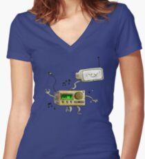 HIFI ROBOT Women's Fitted V-Neck T-Shirt