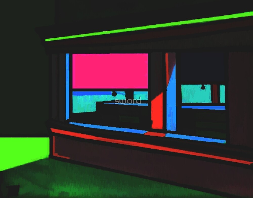 Closing time( from my original acrylic painting digitally enhanced) by sword