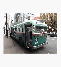 Lámina fotográfica Vintage 1958 Bus, New York Transit System, Herald Square, New York City