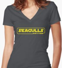 Seagulls episode 1: Stop it Now Women's Fitted V-Neck T-Shirt