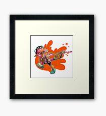 Splatoon - Inkling Girl Framed Print
