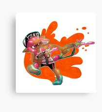 Splatoon - Inkling Girl Canvas Print