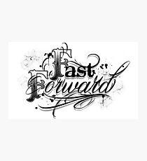 Script fast forward tattoo design  Photographic Print