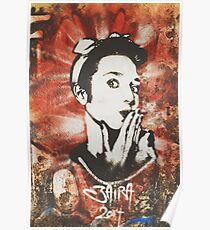 Graffiti Retro Girl Kiss Poster