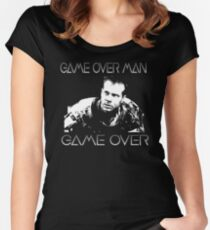 Aliens - Game Over Man Women's Fitted Scoop T-Shirt