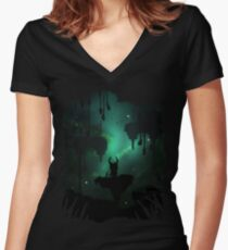 The Greenpath Women's Fitted V-Neck T-Shirt