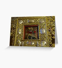 Miraculous image of Our Lady of Sorrows Chelmno Poland Greeting Card