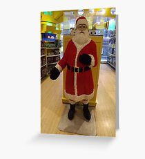 Lego Santa Claus, FAO Schwarz Toystore, New York City Greeting Card