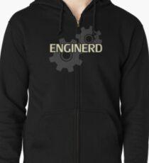 Ingenieuringenieur Nerd Hoodie mit Reißverschluss