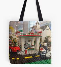 Lego Gas Station, FAO Schwarz Toystore, New York City Tote Bag
