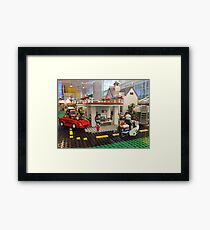 Lego Gas Station, FAO Schwarz Toystore, New York City Framed Print