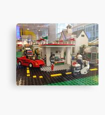 Lego Gas Station, FAO Schwarz Toystore, New York City Metal Print