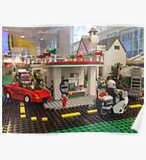 Lego Gas Station, FAO Schwarz Toystore, New York City Poster