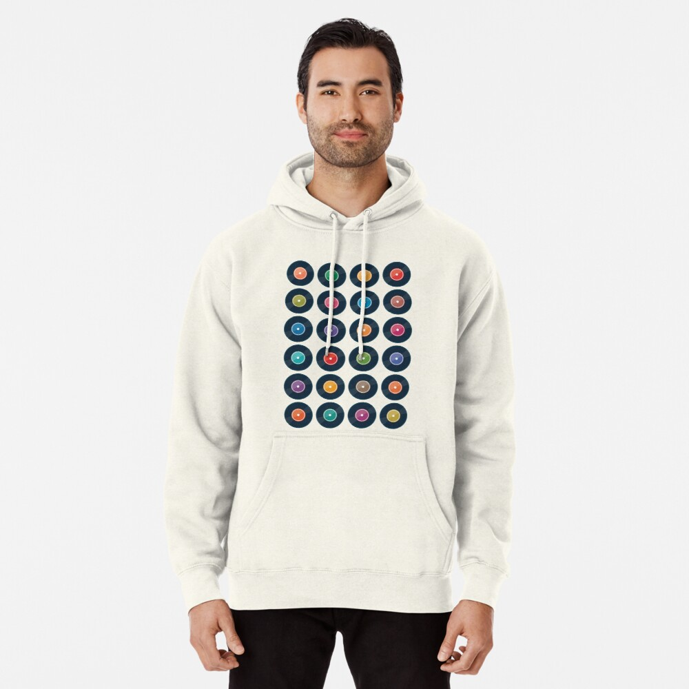 Vinyl Record Collection Pullover Hoodie