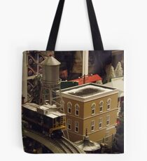 Lionel Model Trains, Model Village, FAO Schwarz Toystore, New York City Tote Bag