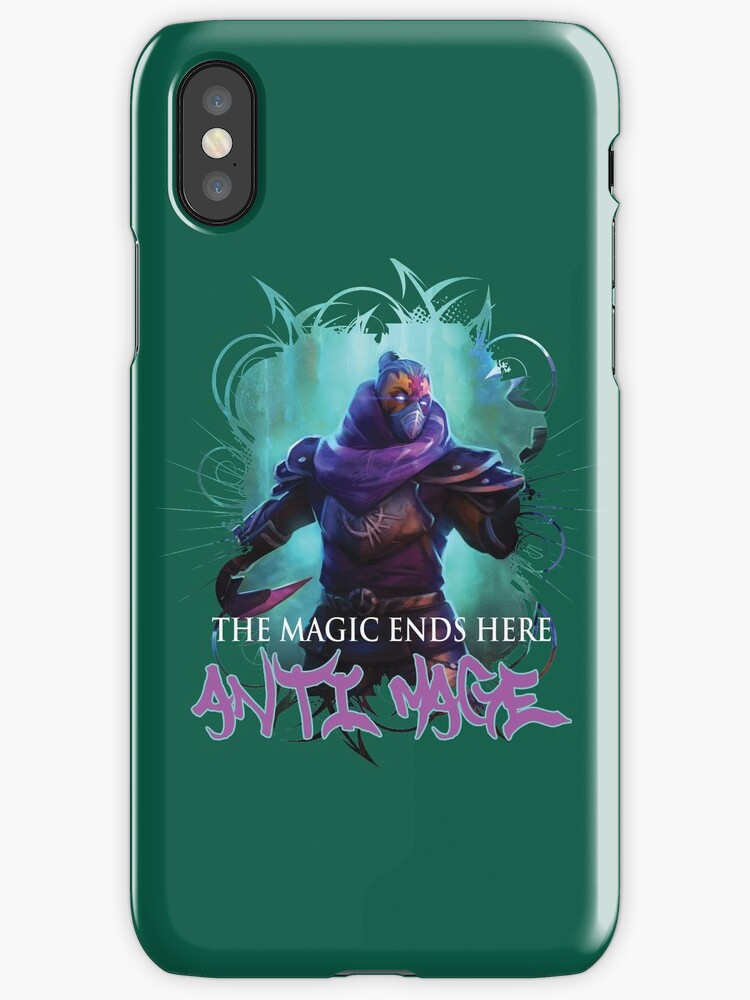 dota 2 anti mage iphone cases skins by dyzle redbubble