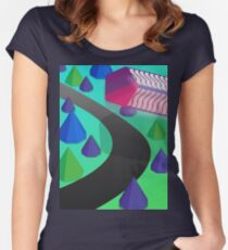 Polygon Outrun Women's Fitted Scoop T-Shirt