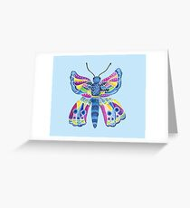 Butterfly I Blue Greeting Card