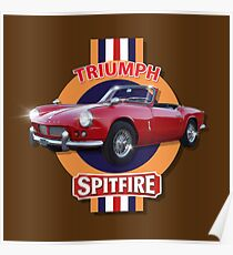 Triumph Spitfire 4 by MotorManiac Poster