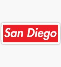 San Diego Red Sticker