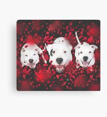 Valentine Pups Canvas Print