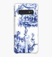Blue Chinoiserie Toile Case/Skin for Samsung Galaxy
